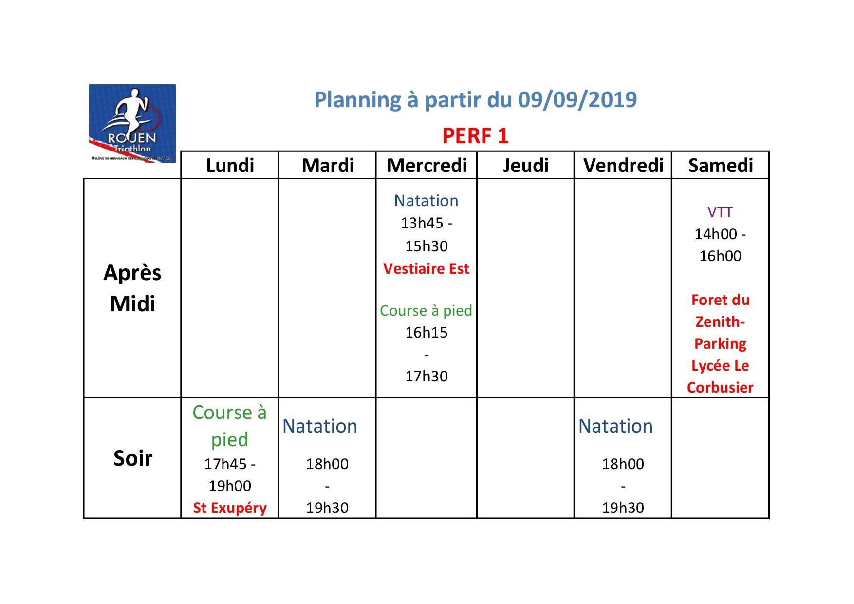 Planning Perf1 2019 2020