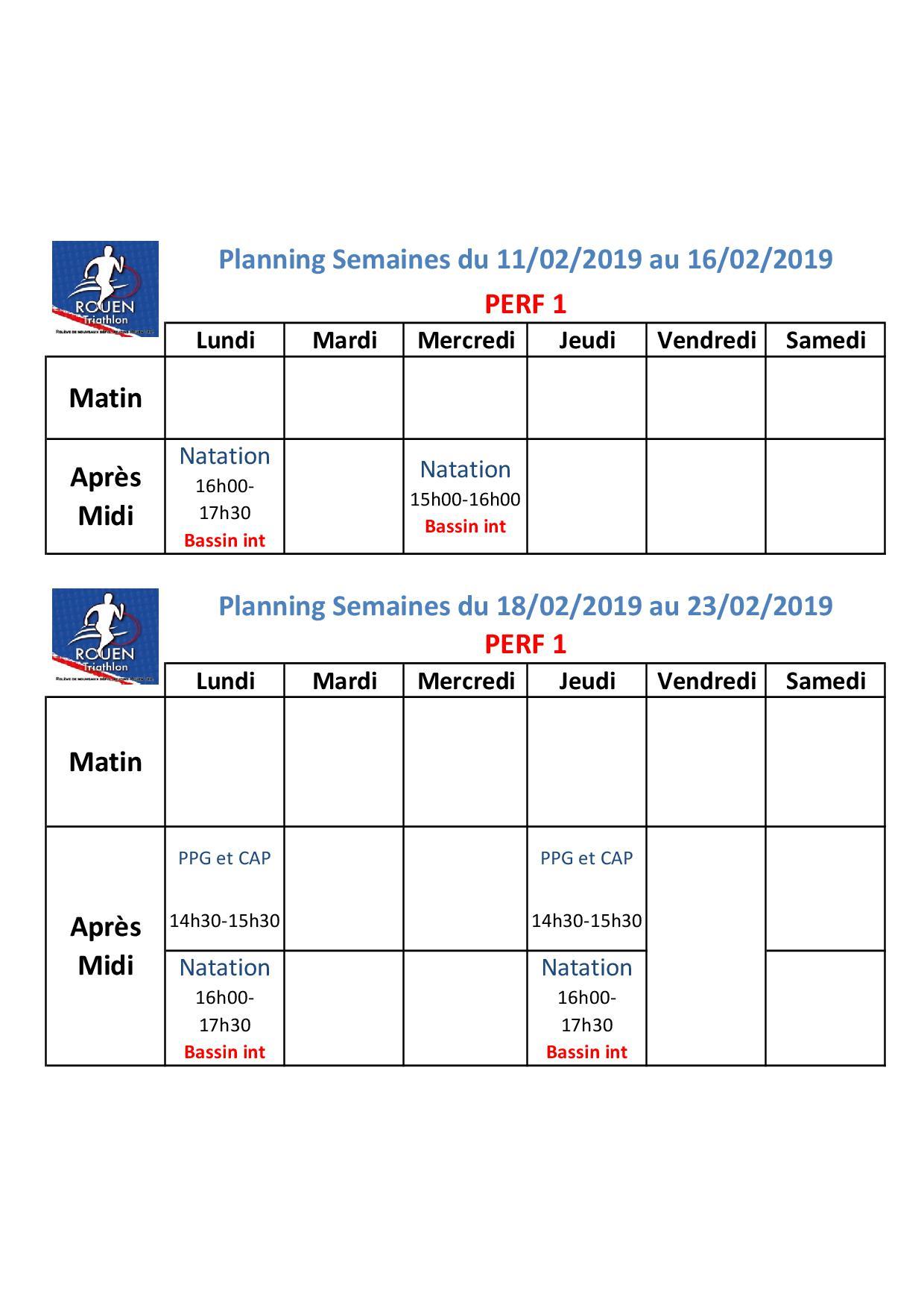 Planning vacances Février Perf1